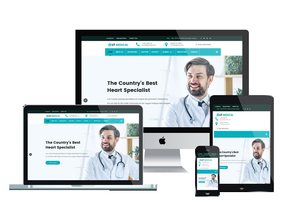 LT Medical - Premium Clinic / Hospital WordPress theme 2