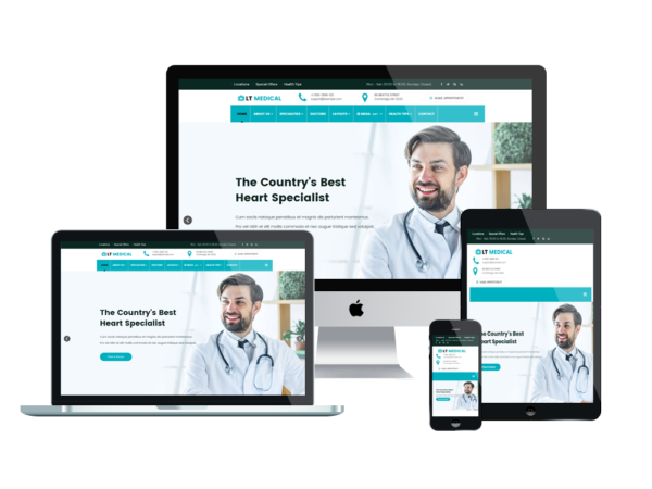 LT Medical - Premium Clinic / Hospital WordPress theme 1