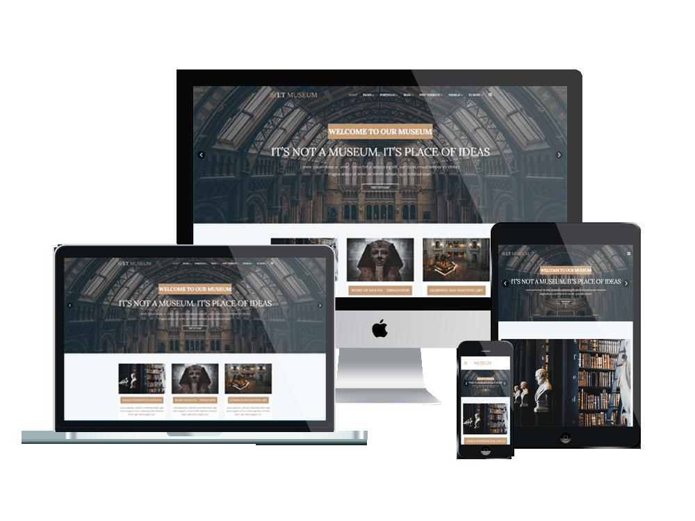LT Museum – Premium One page Museum WordPress Theme 3