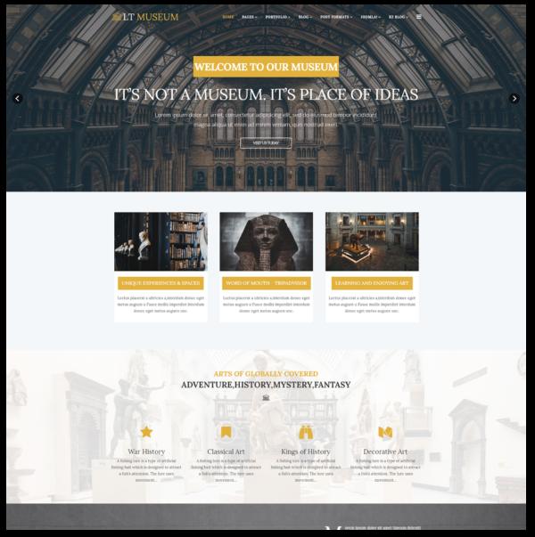 LT Museum – Premium One page Museum WordPress Theme 2