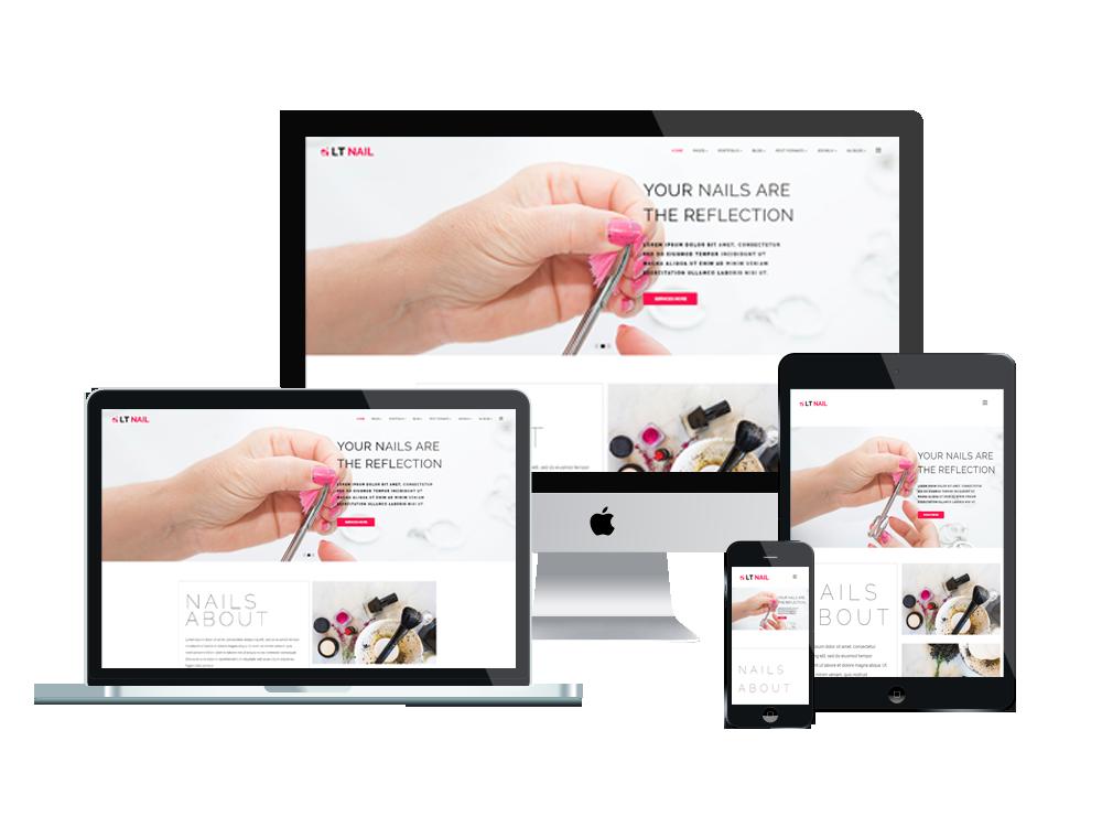 LT Nail – Beauty salon wordpress theme 3