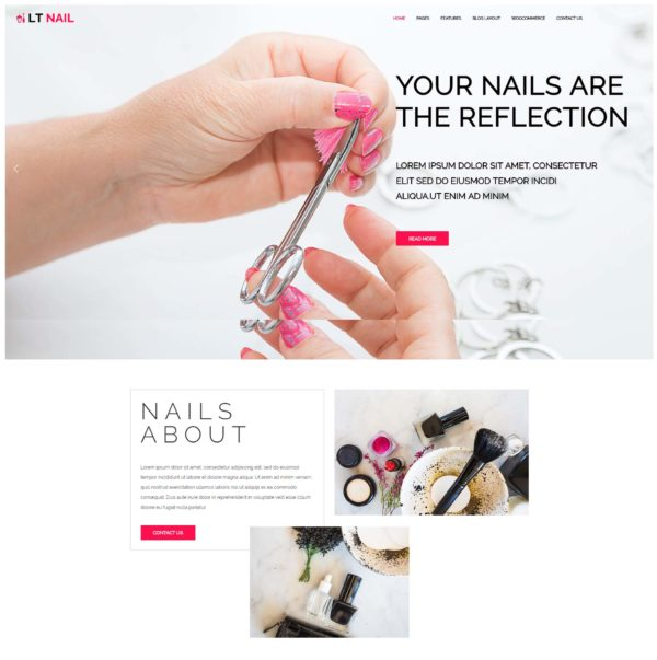 LT Nail – Beauty salon wordpress theme 2