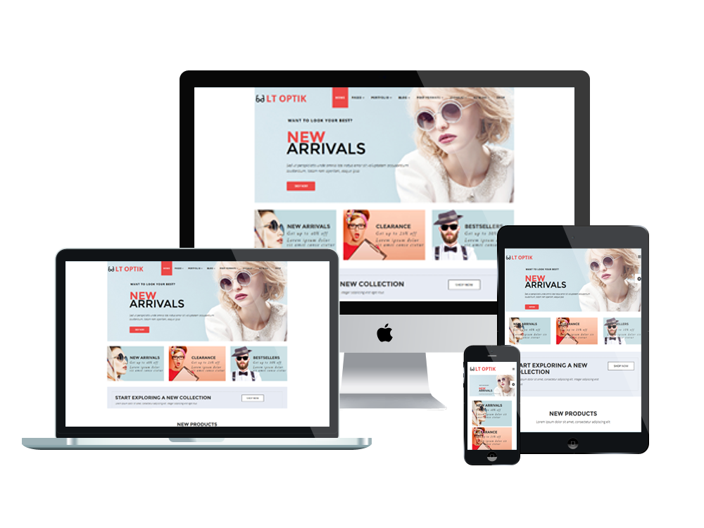 LT Optik – Sunglasses WordPress Theme 2