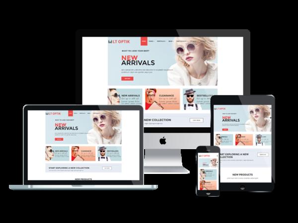 LT Optik – Sunglasses WordPress Theme 1