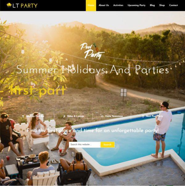 LT Party – events wordpress theme 2