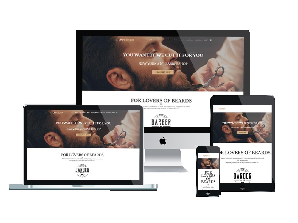 LT Perook – Premium One page Barber Shop WordPress Theme 2