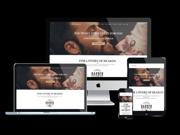 LT Perook – Premium One page Barber Shop WordPress Theme 1