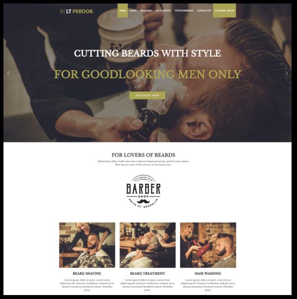 LT Perook – Barber Shop WordPress Theme 2