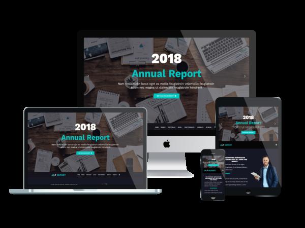 LT Report – Premium Finance wordpress theme 1