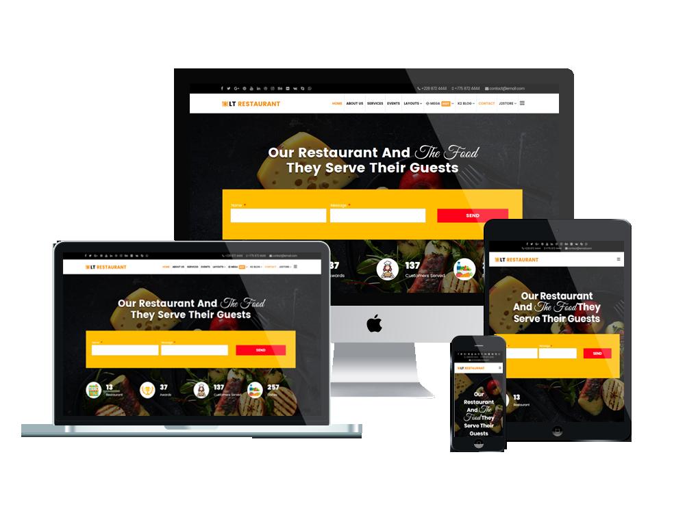 LT Restaurant - Premium Food Order / Restaurant WordPress theme 2
