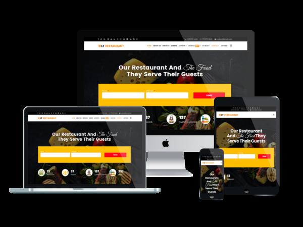LT Restaurant - Premium Food Order / Restaurant WordPress theme 1