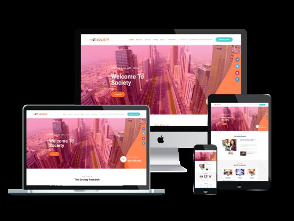LT Society - Premium Corporation / Society WordPress theme 1