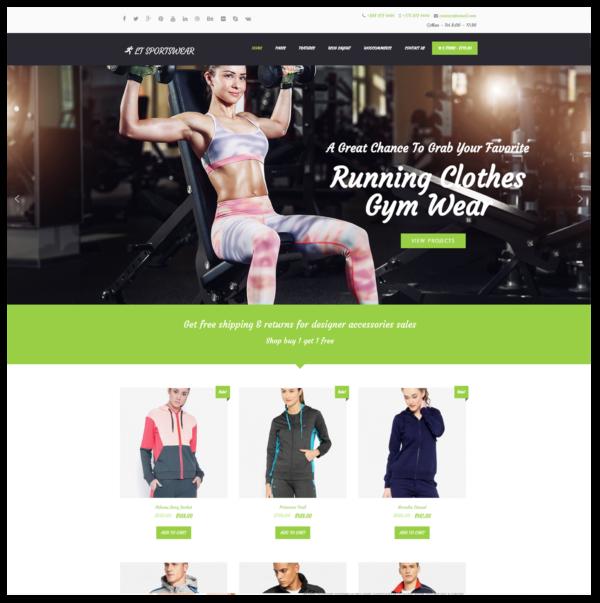 LT Sportswear – Premium One page Sportswear WordPress Theme 2