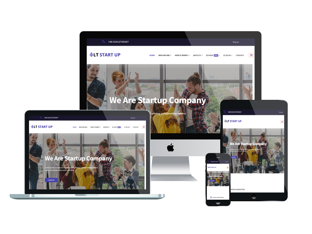 LT Start Up - Best Premium Business WordPress theme 2