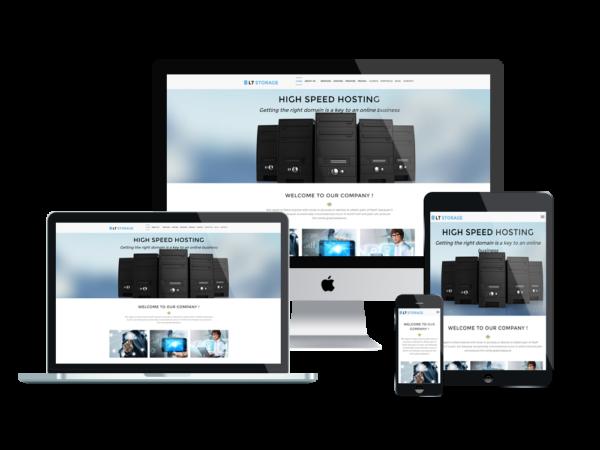 LT Storage - Responsive wordpress theme for hosting 1