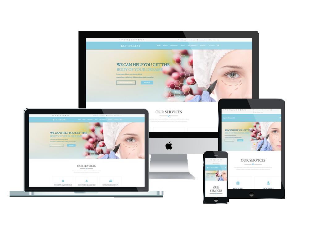 LT Surgery – Premium One page Plastic Surgery WordPress Theme 2