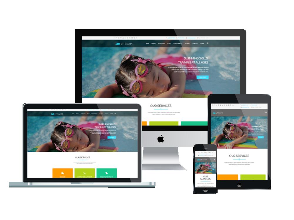 LT Swim – Swimming WordPress Theme 2