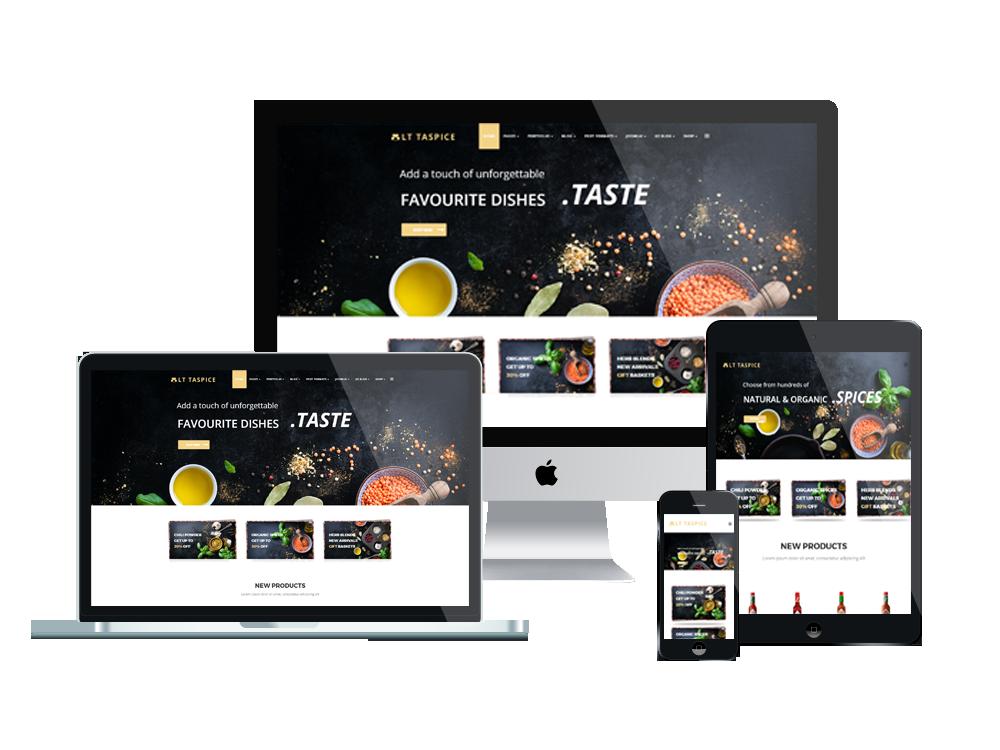 LT Taspice – Organic Food WordPress Theme 2