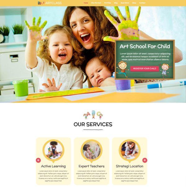 LT ArtClass – Premium One page Painter WordPress theme 2