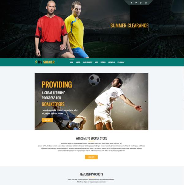 WS Soccer – Sport Clubs WooCommerce WordPress theme 2