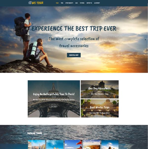 WS Tour – Travel Booking WooCommerce WordPress theme 2
