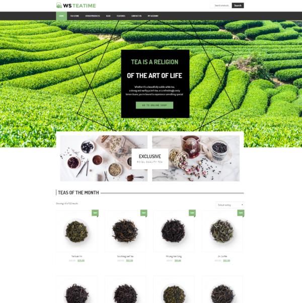 WS TeaTime – Tea Shop WooCommerce WordPress theme 2