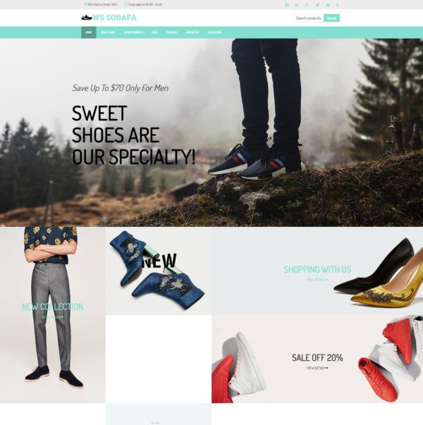 WS Sobafa – Shoes Store WooCommerce WordPress theme 2