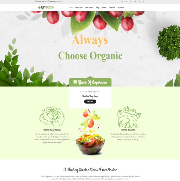 WS Fresh – Agriculture Store WooCommerce WordPress theme 2