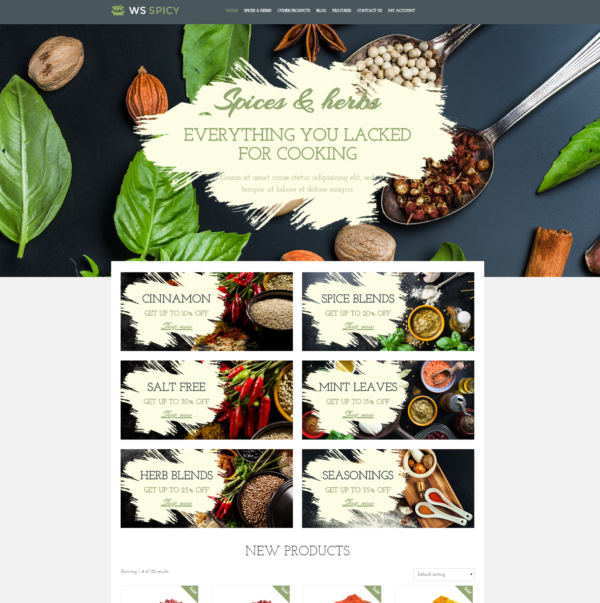 WS Spicy – Spices Store WooCommerce WordPress theme 2