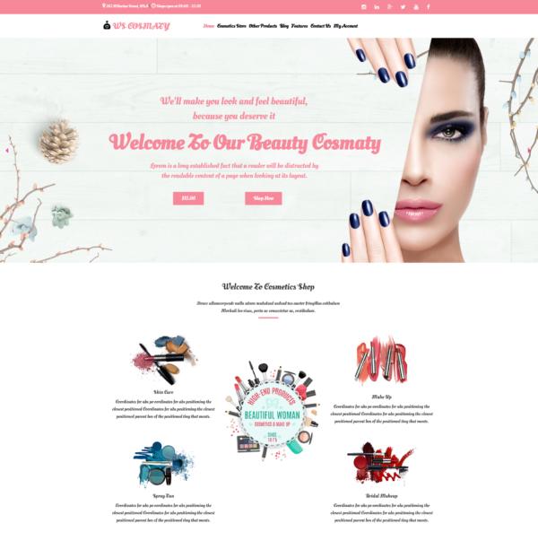 WS Cosmaty – Cosmetics Store WooCommerce WordPress theme 2