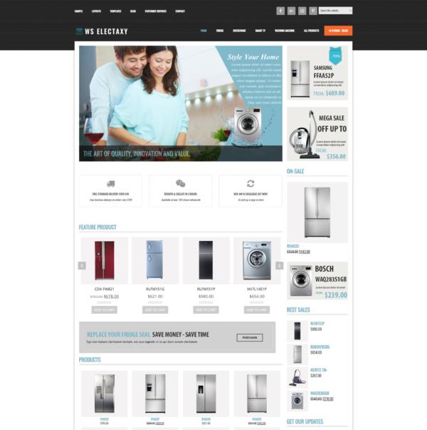 WS Electaxy – Online Electronics Store Woocommerce WordPress theme 2