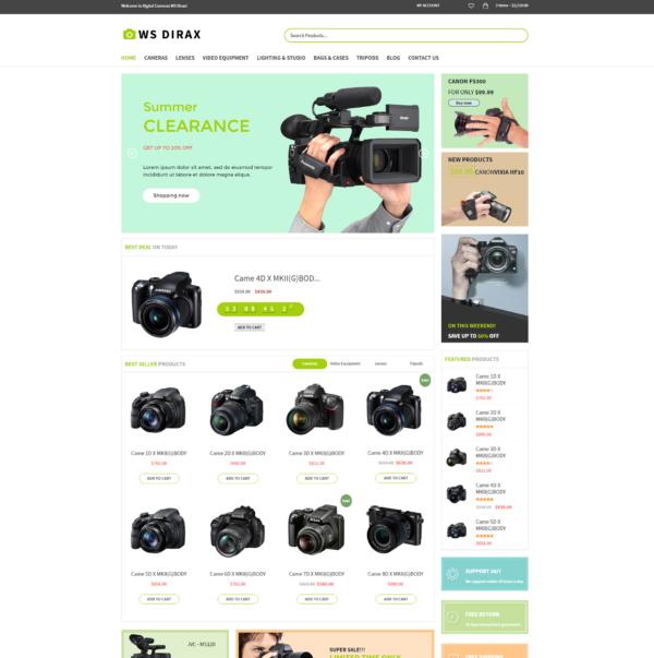 WS Dirax – Digital Cameras Woocommerce WordPress theme 2
