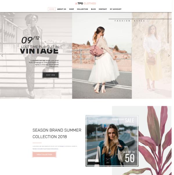 TPG Clothes – Best Premium Responsive Clothing WordPress theme 2