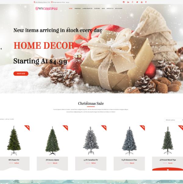WS Christmas – Christmas WooCommerce WordPress theme 2