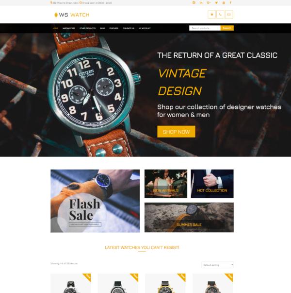 WS Watch – Watch WooCommerce WordPress theme 2