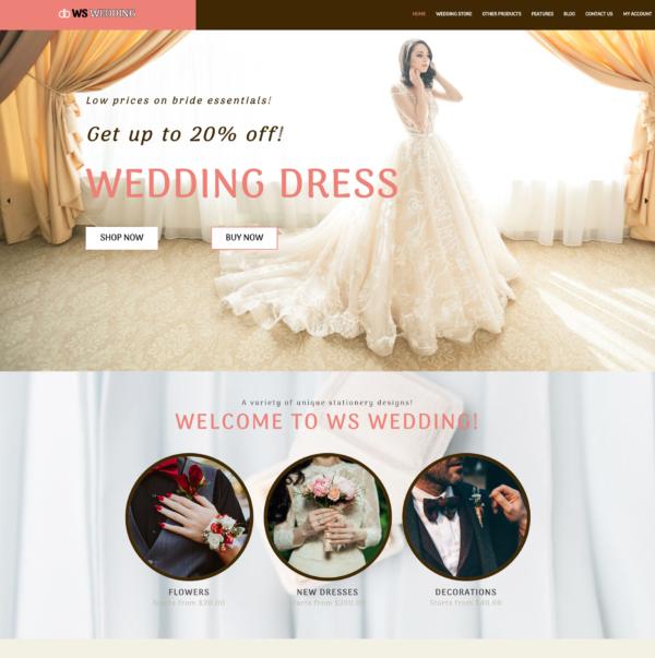 WS Wedding – Wedding WooCommerce WordPress theme 2