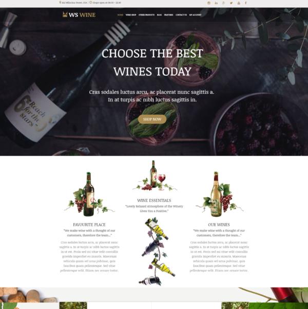 WS Wine – Wine Store WooCommerce WordPress theme 2