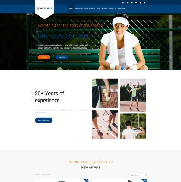 WS Tennis – Sport WordPress theme 2