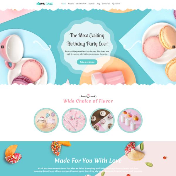 WS Cake – Cake WordPress theme 2