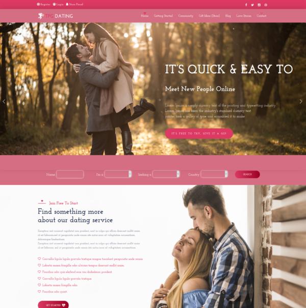 TPG Dating – Best Premium Responsive WordPress Dating theme 2