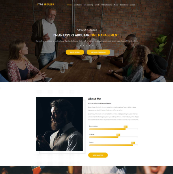 TPG Speaker – Best Premium Responsive Conference WordPress theme 2