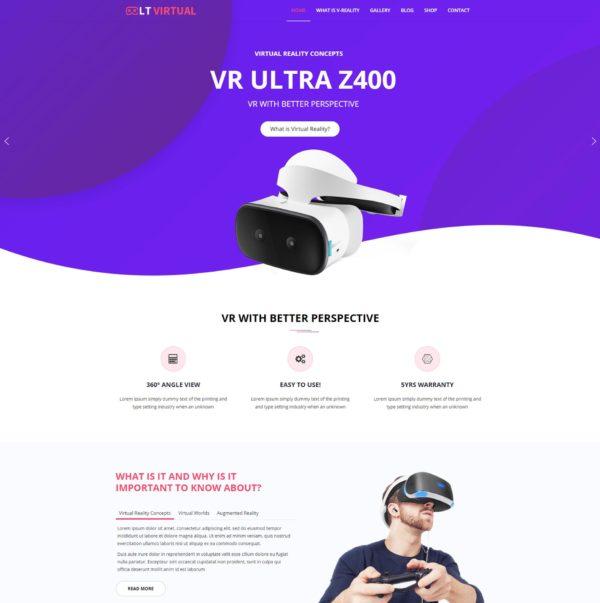 LT Virtual – Premium One page Virtual WordPress theme 2