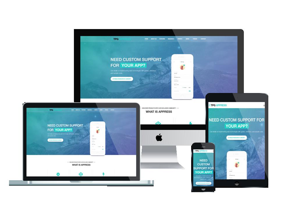 TPG Appress – Best Premium Responsive WordPress App theme 3