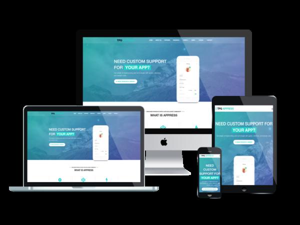 TPG Appress – Best Premium Responsive WordPress App theme 1