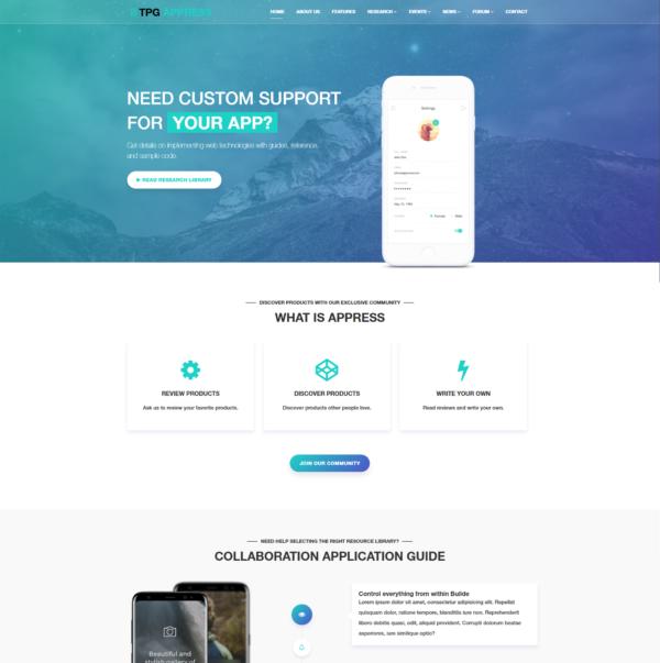 TPG Appress – Best Premium Responsive WordPress App theme 2