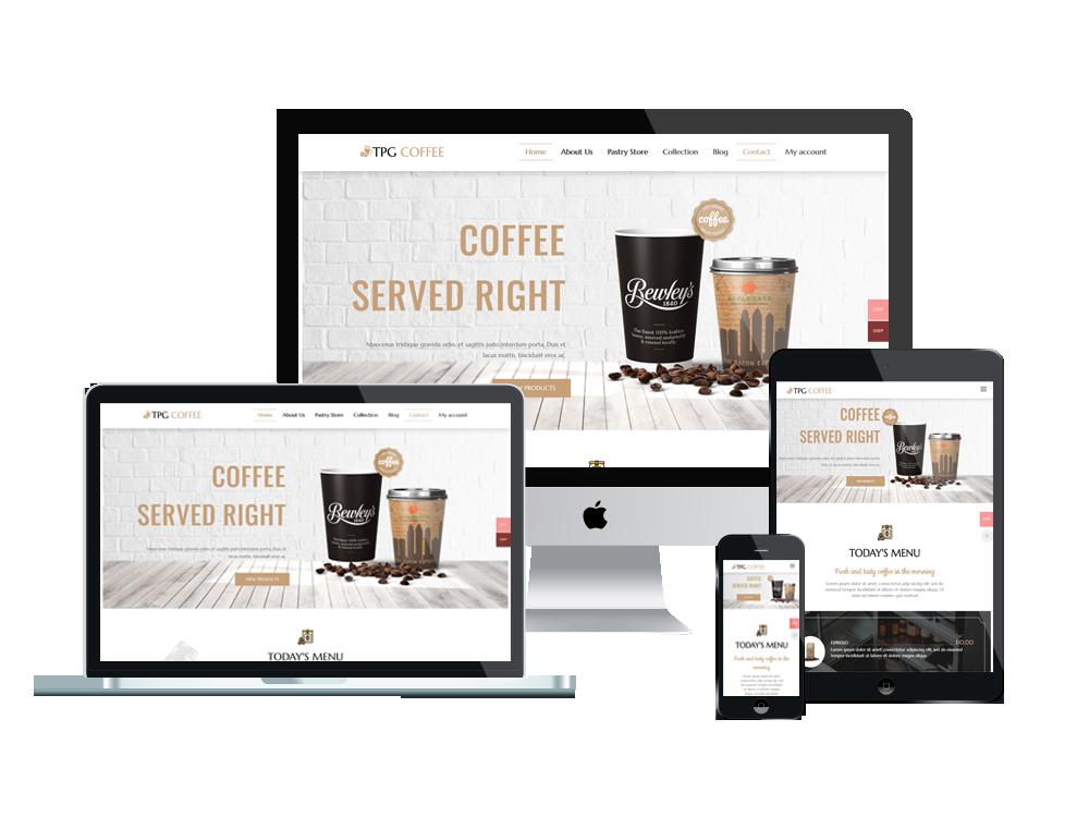 TPG Coffee – Best Premium Responsive Beverage Website template 2