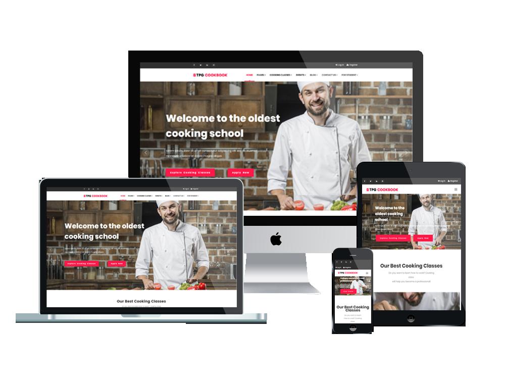 TPG CookBook – Best Premium Responsive Kitchen WordPress theme 2