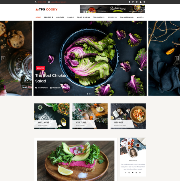 TPG Cooky – Best Premium Responsive WordPress Food Blog Theme 2