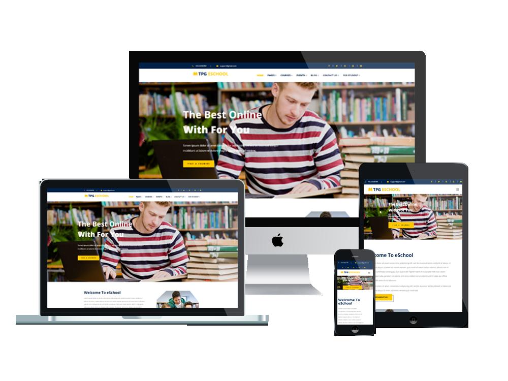 TPG eSchool – Best Premium Responsive Online school WordPress Theme 2