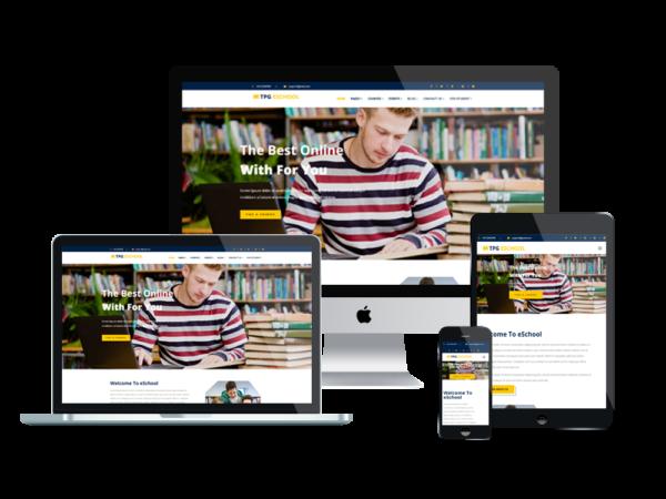 TPG eSchool – Best Premium Responsive Online school WordPress Theme 1